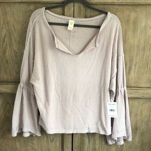 Free People Top with Bell sleeves. New With Tags
